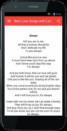 Best Love Songs with Lyrics