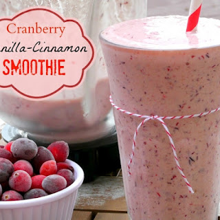 Cranberry Vanilla-Cinnamon Smoothie