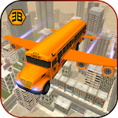Flying School Bus Sim 2017
