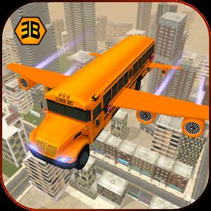 Flying School Bus Sim 2017