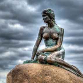 The Little Mermaid by Steve Densley - Artistic Objects Other Objects ( bronze, sculpture, copenhagen, little mermaid, denmark )