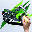 ColorPics: Motorcycle Coloring Game - FREE icon