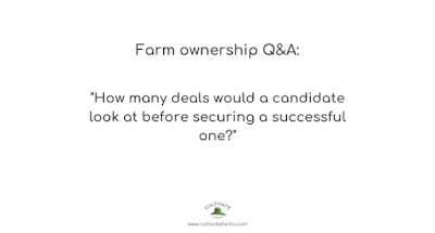 How many deals would a candidate look at before securing a successful one?