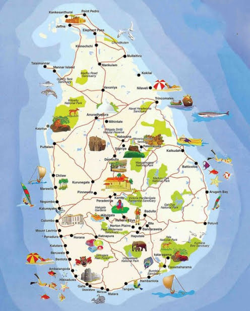 Mapa Sri Lanka