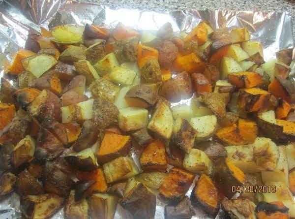 Roasted Potatoes & Sweet Potatoes