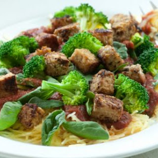 Italian-Style Spaghetti Squash with Tempeh Recipe