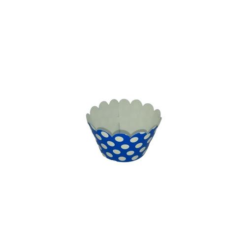 Cup Cake Altolitho Azul Estampados Circulos/Rayas 25und