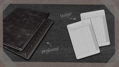Photo: In the beginning, Guild serviced loans using pegboards with carbon paper ledgers.
