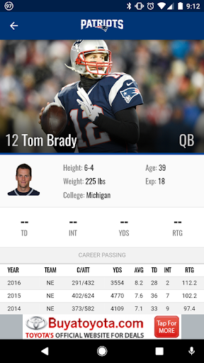 New England Patriots screenshot