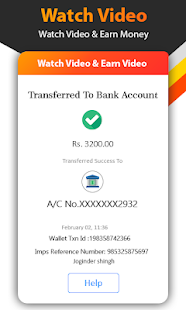 Watch Video Status Daily And Earn Money Win Reward Capture d'écran