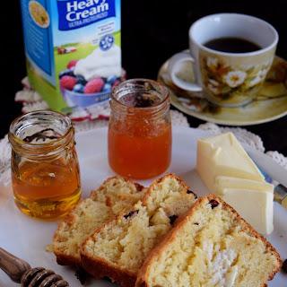 Honey and Cream Cranberry Bread.