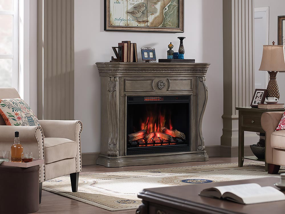 Neutral Color electric fireplace