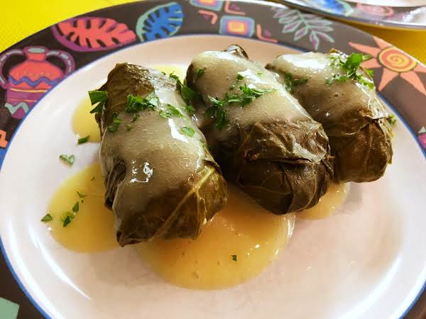 Greek Dolmades With Avgolemono Sauce Recipe