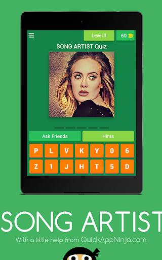 玩免費益智APP|下載SONG Artist QUIZ app不用錢|硬是要APP
