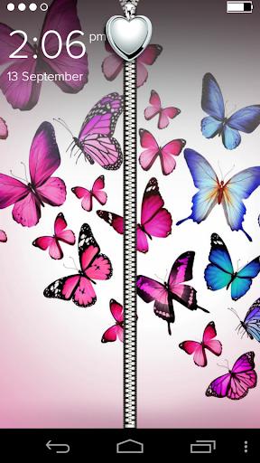 Love Butterfly Zip Lockscreen