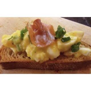 Open Face Egg Salad Sandwich.