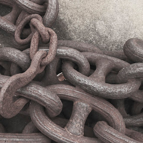Hook and Chain by Terri Schaffer - Black & White Buildings & Architecture