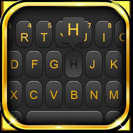 Luxury Golden Black Keyboard Theme Icon