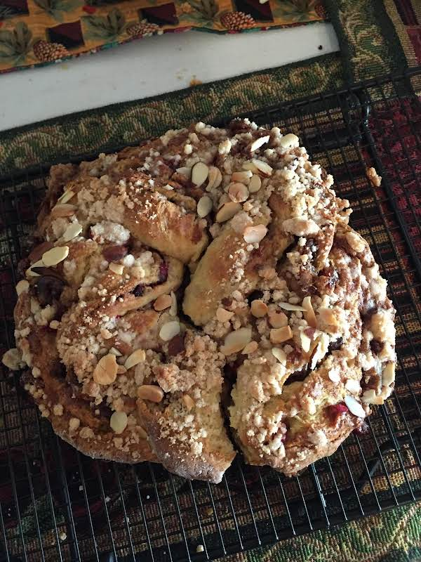 This Particular Coffeecake Had Sliced Almonds Added On Top Before Baking. This Is An Easy Versatile Coffee Cake That Bakes Up Quickly.