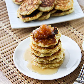Quinoa Pancakes With Apple Sauce