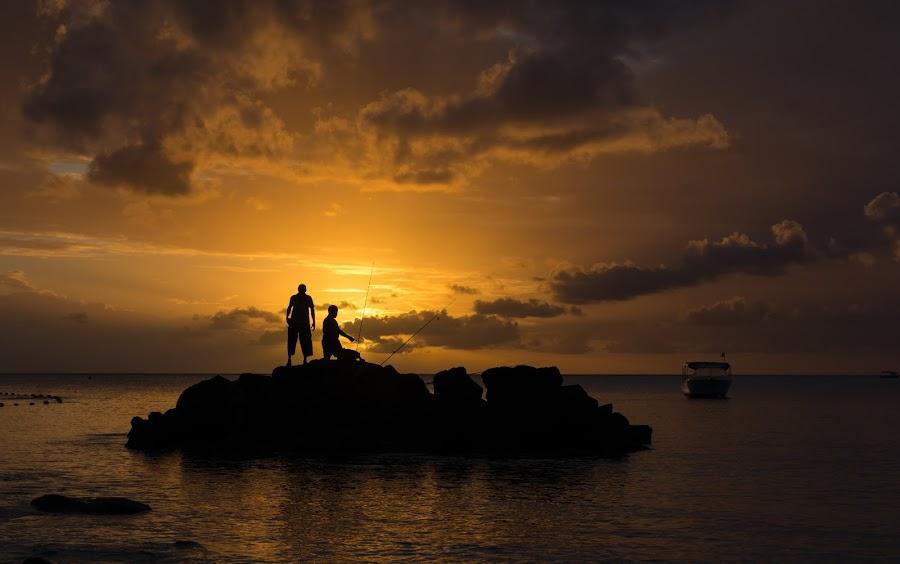 Sunset Moments by Rajiv Groochurn - Landscapes Sunsets & Sunrises ( mauritius )