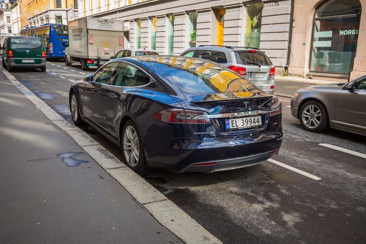 A Tesla in Oslo, Norway.