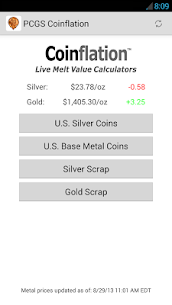 Coinflation Gold & Silver Apk Melt Values 1