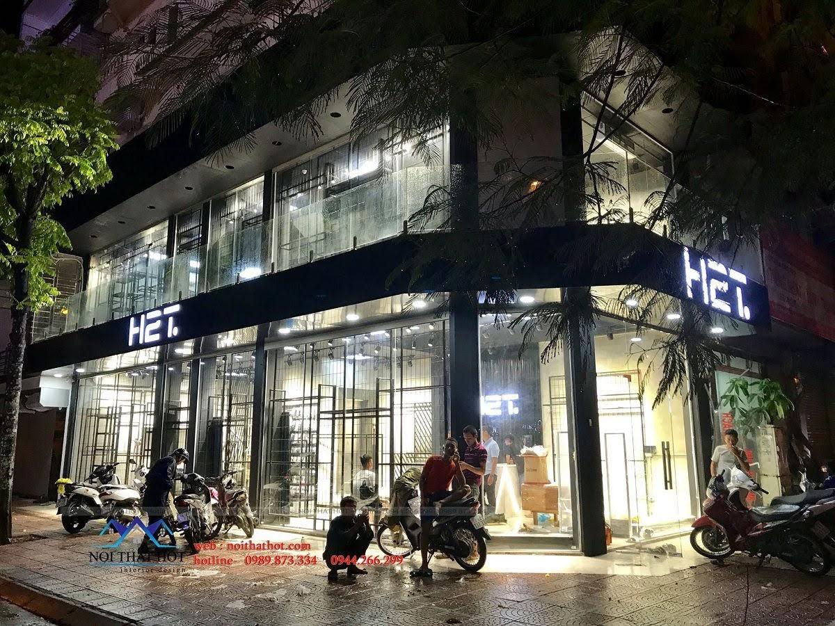thiết kế shop thời trang nam H2T 17