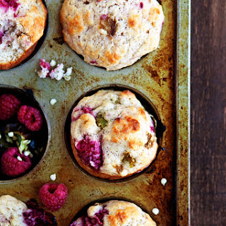 Hatch Green Chile Raspberry Muffins