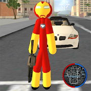 Iron Stickman Rope Hero Gangstar Crime