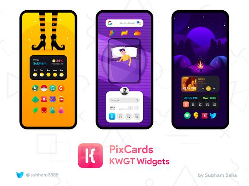PixCards KWGT - Modern Card Style Widgets screenshot 3