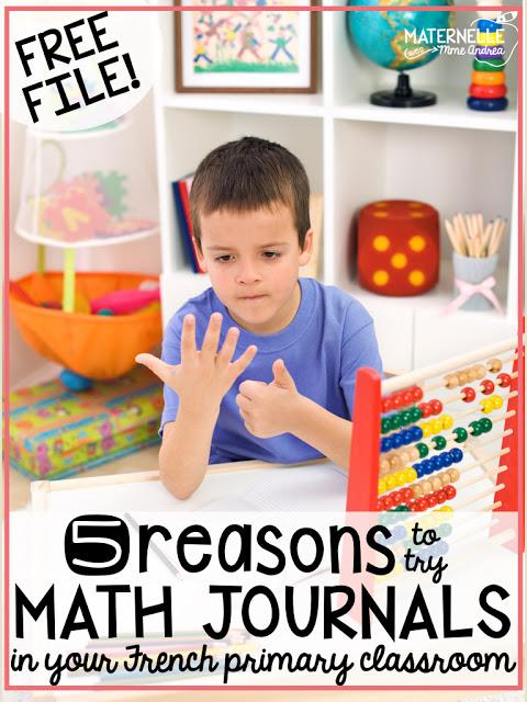 Do your students have a hard time retaining important math concepts after you move on from a unit? Using math journals in your French primary classroom is a GREAT way to incorporate spiral review into your math block - ensuring your students won't forget what you have taught them! Here are 5 reasons why math journals are AMAZING in elementary French immersion