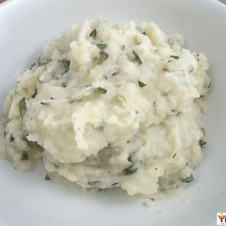 Garlic & Basil Mashed Potatoes.