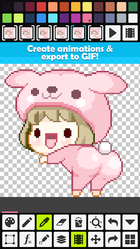 Pixel Studio - Pixel art editor, GIF animation 1.07 gameplay | AndroidFC 2