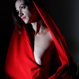 by DJ Cockburn - Nudes & Boudoir Artistic Nude ( sophie french, nude, topless, sitting, dark hair )