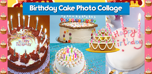 Birthday Cake Photo Collage
