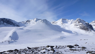 Photo: Tarfala valley, Storglaciär and Isfallsglaciär