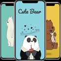 Cute Bear Cartoon Wallpaper icon