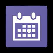 丸印カレンダー (ウィジェット対応)