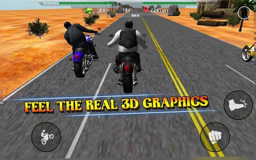 オートバイ乗りスリラー3D