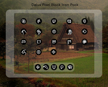 Delux Black – Round Icon Pack (MOD, Paid) v1.3.1 4
