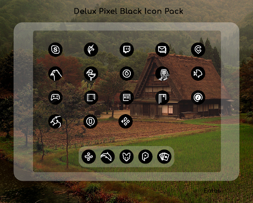 Delux Black - Round Icon Pack Screenshot Image