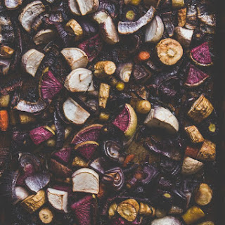 Balsamic and Honey Roasted Root Vegetables