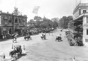 Photo: Mount road-Mount Road or Anna Salai as it is called today is one of the key arteries of Madras, connecting virtually two ends of the city - Fort St George and St Thomas Mount. It was supposedly built in 1795 by the British for the army to move easily between these two points and old pictures show this stretch as a beautiful avenue lined with trees It starts off as on a little island near Fort St George on the Cooum creek and leads to the highway that takes one directly to the tip of India to Cape Camorin.The statue of Thomas Munro, one of the Governors of the Madras Presidency stands almost at the entrance of the club . During the British period, this was the entertainment hub . Clubs, churches, movie halls, restaurants, icecream parlours and shops were the key landmarks here.