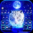 Neon Tiger 2 Keyboard Background