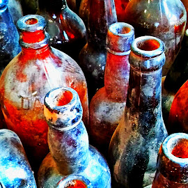 Vintage Bottles by Martin Stepalavich - Artistic Objects Glass (  )