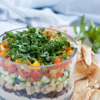 6-Layer Vegan Mediterranean Dip.