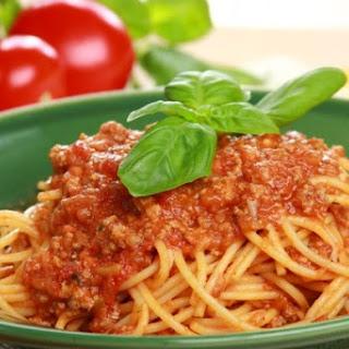 Spaghetti mit Lammsugo