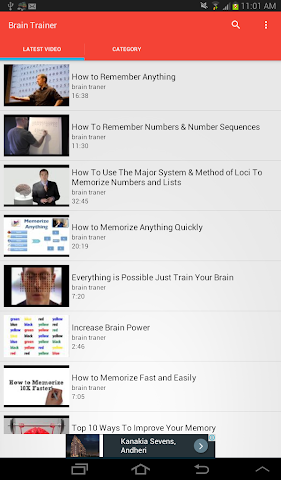 android Brain Trainer Videos Screenshot 3