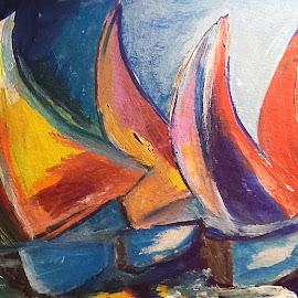 Sailing by Vanja Škrobica - Painting All Painting